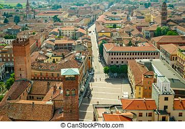 Cremona panorama (Italy)