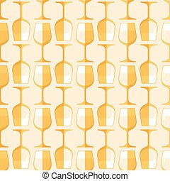 colored white wine glass seamless pattern