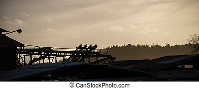 The Old Sawmill - The silhouette of a closed sawmill
