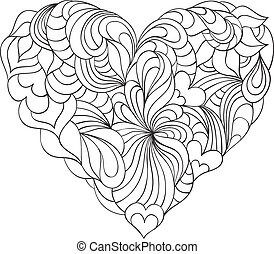 abstract heart on white background - Vector illustration of...