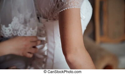Bride in white dress HD