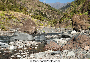 Valley of Fear on the island La Palma, Canary Islands -...