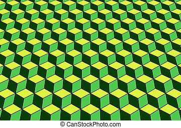 Geometric pattern with optical effect.