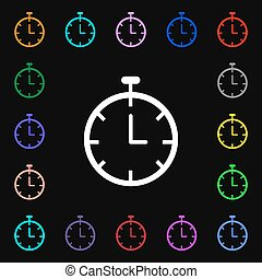 Stopwatch  icon sign. Lots of colorful symbols for your design. Vector