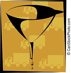 Funnel - Illustration of a funnel using for transferring...