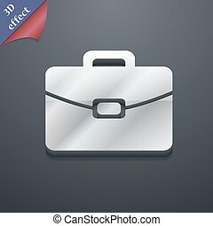 suitcase icon symbol 3D style Trendy, modern design with...