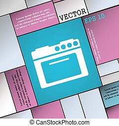 kitchen stove icon sign Modern flat style for your design...