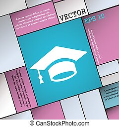 Graduation icon sign. Modern flat style for your design. Vector
