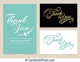 Thank you card  - Thank you, poster and card