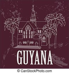 Guyana infographics, statistical data, sights Cathedral of...