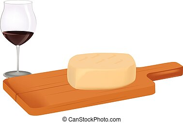 cutting board with cheese