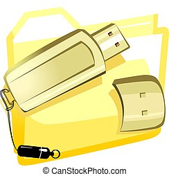 pendrive  - Illustration of pendrive