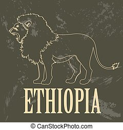 Ethiopia infographics, statistical data, sights. Vector...