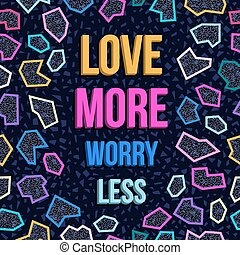 Inspiration motivation love quote 80s background -...