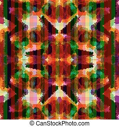 Seamless pattern hippie abstract tie dye rorschach -...