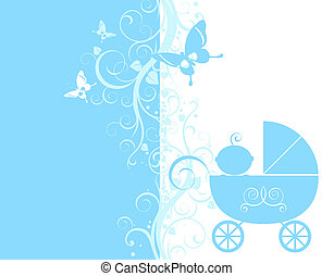 baby announcement - baby arrival design, baby boy in his...
