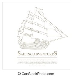 Set of sailing boat and nautical logos Vector logo templates...