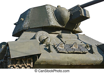 the tank model T - 34 on white background