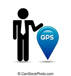 gps service design - gps service design, vector illustration...