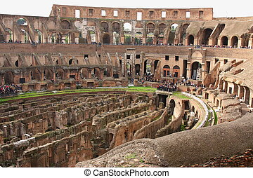 Ruins of the Colosseum, Rome, Italy - Ruins of the Colosseum...