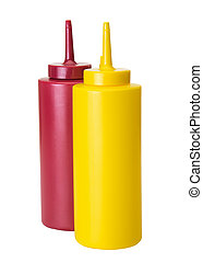 Basic Food Additives - Mustard and ketchup squeze containers...