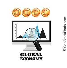 global economy design - global ecomomy design, vector...