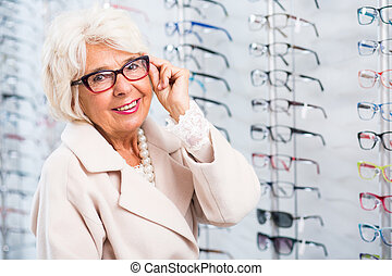 Lady with eye defect - Image of lady with eye defect at...