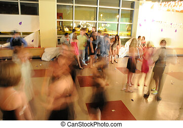 High School Dance - Blurry abstract image of students...