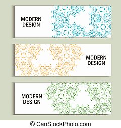 Vector set with abstract pattern