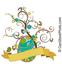 easter tree with scroll