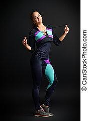 sportswear - Beautiful athletic girl in sportswear posing...
