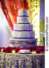 Beautiful Indian Wedding Cake - Image of a beautifully...