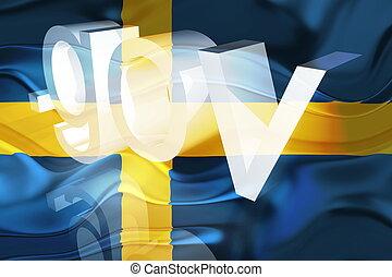 Flag of Sweden wavy government - Flag of Sweden, national...