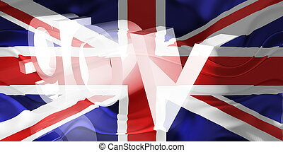 Flag of United Kingdom wavy government - Flag of United...