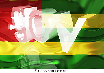 Flag of Togo wavy government - Flag of Togo, national...