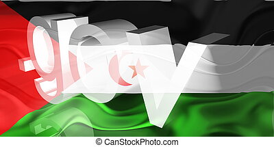 Flag of Western Sahara wavy government - Flag of Western...