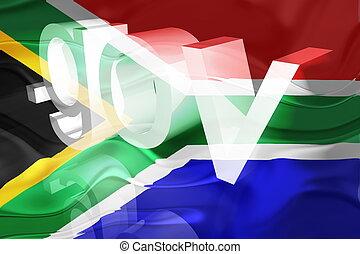 Flag of South Africa wavy government - Flag of South Africa,...