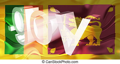 Flag of Sri Lanka wavy government - Flag of Sri Lanka,...