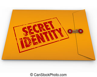 Secret Identity Classified Confidential Yellow Envelope Unknown Private ID Information