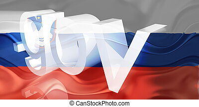 Flag of Slovenia wavy government - Flag of Slovenia,...