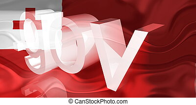 Flag of Tonga wavy government - Flag of Tonga, national...
