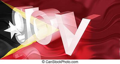 Flag of Timor-Leste wavy government - Flag of Timor-Leste,...