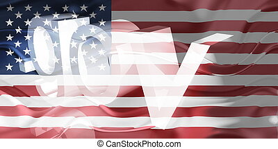 Flag of United States of America wavy government - Flag of...
