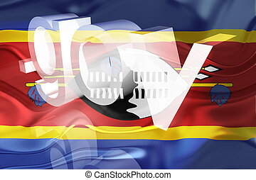 Flag of Swaziland wavy government - Flag of Swaziland,...