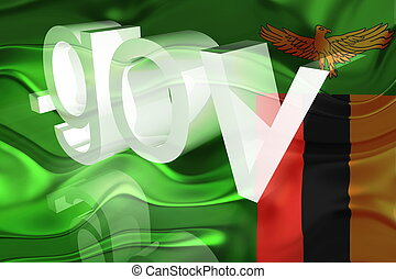 Flag of Zambia wavy government - Flag of Zambia, national...