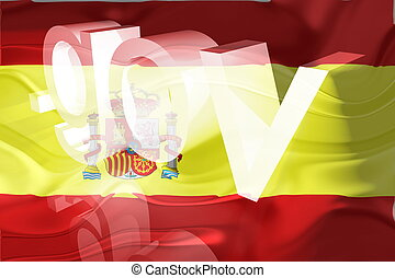 Flag of Spain wavy government - Flag of Spain, national...