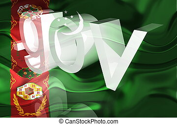 Flag of Turkmenistan wavy government - Flag of Turkmenistan,...