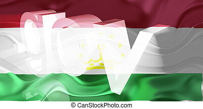 Flag of Tajikistan wavy government - Flag of Tajikistan,...