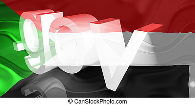 Flag of Sudan wavy government - Flag of Sudan, national...