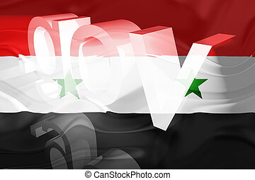 Flag of Syria wavy government - Flag of Syria, national...